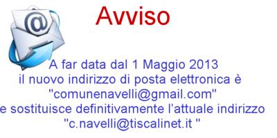 Cambio indirizzo di posta elettronica