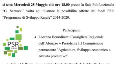 PSR 2014-2020 Incontro informativo Navelli