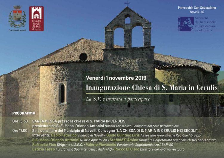 Inaugurazione Chiesa S.Maria in Cerulis