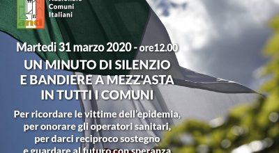 31 marzo bandiere a mezz'asta e minuto di silenzio per i defunti per Covid-19