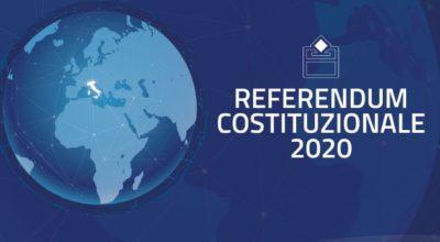 REFERENDUM COSTITUZIONALE ED ELEZIONI DEL SINDACO E DEL CONSIGLIO COMUNALE DEL 20 E 21 SETTEMBRE 2020
