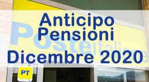 Pagamento pensioni Dicembre 2020 – Informativa Poste Italiane